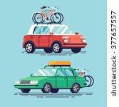 set of vector flat design... | Shutterstock .eps vector #377657557