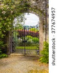 Beautiful  Old Garden Gate Wit...