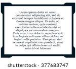 border frame line deco vector... | Shutterstock .eps vector #377683747