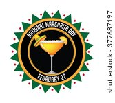 national margarita day icon. | Shutterstock . vector #377687197