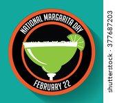 national margarita day icon.... | Shutterstock .eps vector #377687203