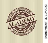 academy rubber grunge stamp | Shutterstock .eps vector #377690023