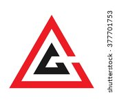 triangle logo vector. | Shutterstock .eps vector #377701753