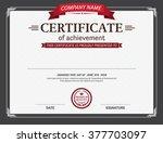 certificate template vector | Shutterstock .eps vector #377703097