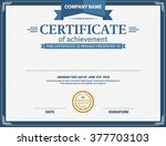 certificate template design of... | Shutterstock .eps vector #377703103