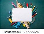 desk. | Shutterstock . vector #377709643