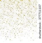 gold confetti falling stars on... | Shutterstock .eps vector #377711107