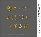 alphabet   number   handwriting ... | Shutterstock .eps vector #377716423