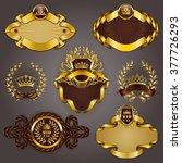 set of elegant templates for... | Shutterstock .eps vector #377726293