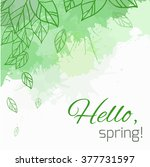spring vector card with doodle... | Shutterstock .eps vector #377731597