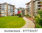 modern apartment buildings in... | Shutterstock . vector #377733157