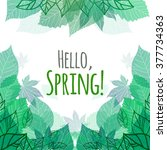 Spring Vector Card With Doodle...