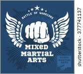 fight club mma mixed martial... | Shutterstock .eps vector #377741137