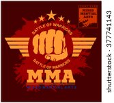 fight club mma mixed martial... | Shutterstock .eps vector #377741143