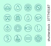 set sea icons | Shutterstock .eps vector #377745187