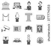 museum decorative black icons... | Shutterstock .eps vector #377774353
