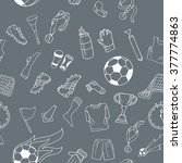 sport seamless pattern with... | Shutterstock .eps vector #377774863