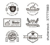 set of coffee shop labels ... | Shutterstock .eps vector #377775883