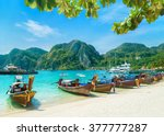 tonsai beach bay view with many ... | Shutterstock . vector #377777287