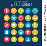 universal web icons set for web ... | Shutterstock .eps vector #377791393