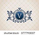 vintage crest logo elements... | Shutterstock .eps vector #377793037