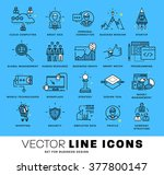 thin line icons set. business... | Shutterstock .eps vector #377800147