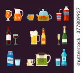 alcoholic drinks and non... | Shutterstock .eps vector #377809927