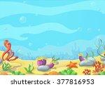 Underwater World Blue Sea ...