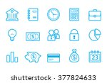 bank line icons | Shutterstock .eps vector #377824633