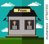 Prison Flat Illustration