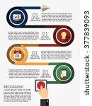 infographic template  eps10 ... | Shutterstock .eps vector #377839093