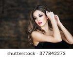 portrait of a beautiful girl | Shutterstock . vector #377842273
