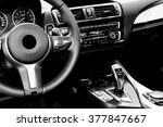 modern car interior  | Shutterstock . vector #377847667