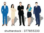set of business people... | Shutterstock .eps vector #377855233