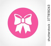 ribbon bow icon isolated on...