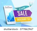 sale smartphone  poster design. ... | Shutterstock . vector #377862967