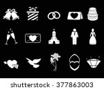 white wedding icons | Shutterstock .eps vector #377863003