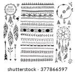 vector floral decor set ... | Shutterstock .eps vector #377866597