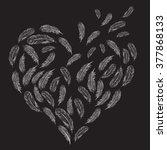 heart love feather illustration ... | Shutterstock .eps vector #377868133