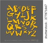 alphabet   number   handwriting ... | Shutterstock .eps vector #377871667