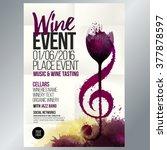 design for wine event. suitable ... | Shutterstock .eps vector #377878597