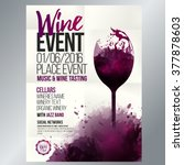 design for wine event. suitable ... | Shutterstock .eps vector #377878603