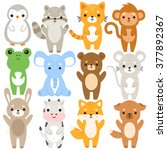 set of twelve illustration of... | Shutterstock .eps vector #377892367