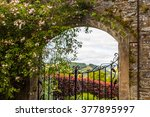 Beautiful  Old Garden Gate Wit...