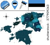 vector map of estonia with... | Shutterstock .eps vector #377909263