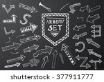 hand drawn arrow icons set on... | Shutterstock .eps vector #377911777