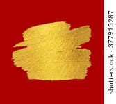 gold texture. brush stroke... | Shutterstock .eps vector #377915287