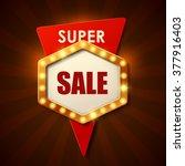 sale background in vintage... | Shutterstock .eps vector #377916403
