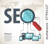 seo services concept with 20... | Shutterstock .eps vector #377931127