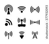 wireless icon | Shutterstock .eps vector #377932093